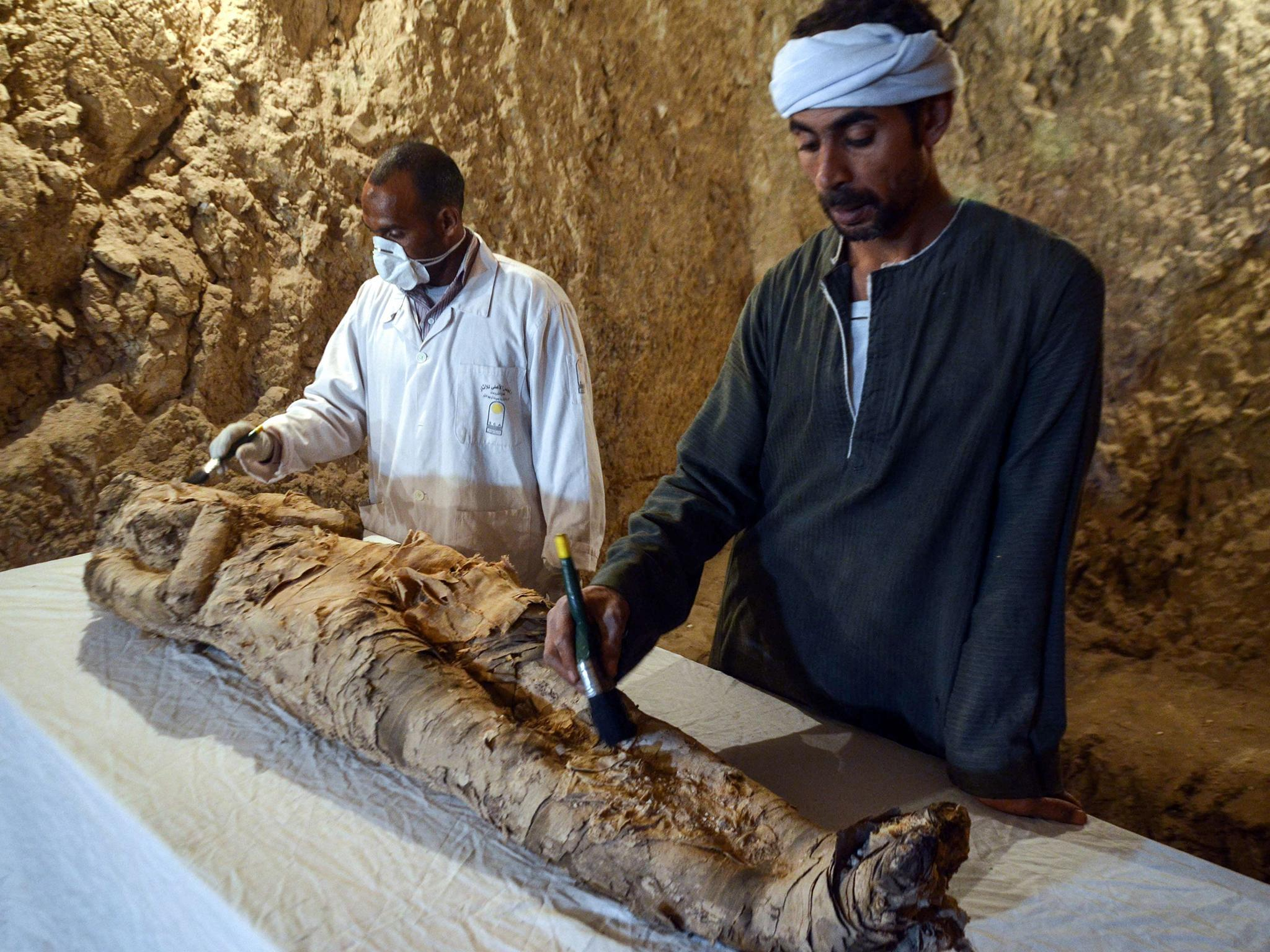 Egyptian mummy and ancient treasures 'in near perfect ...