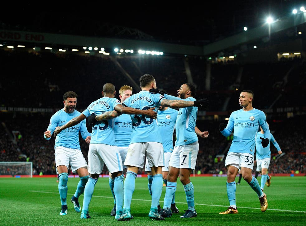 Manchester City moved 11 points clear of United after a deserved win at Old Trafford