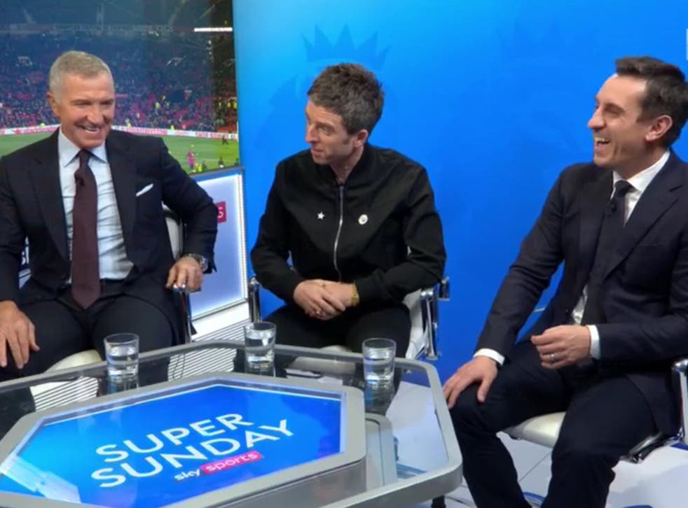 Noel Gallagher was invited into the Sky Sports studio for their Manchester derby coverage