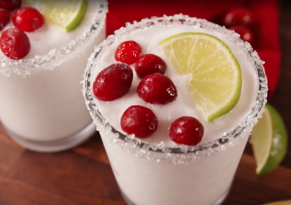 white christmas margaritas offer the best of both worlds delish - Best Christmas Cocktails