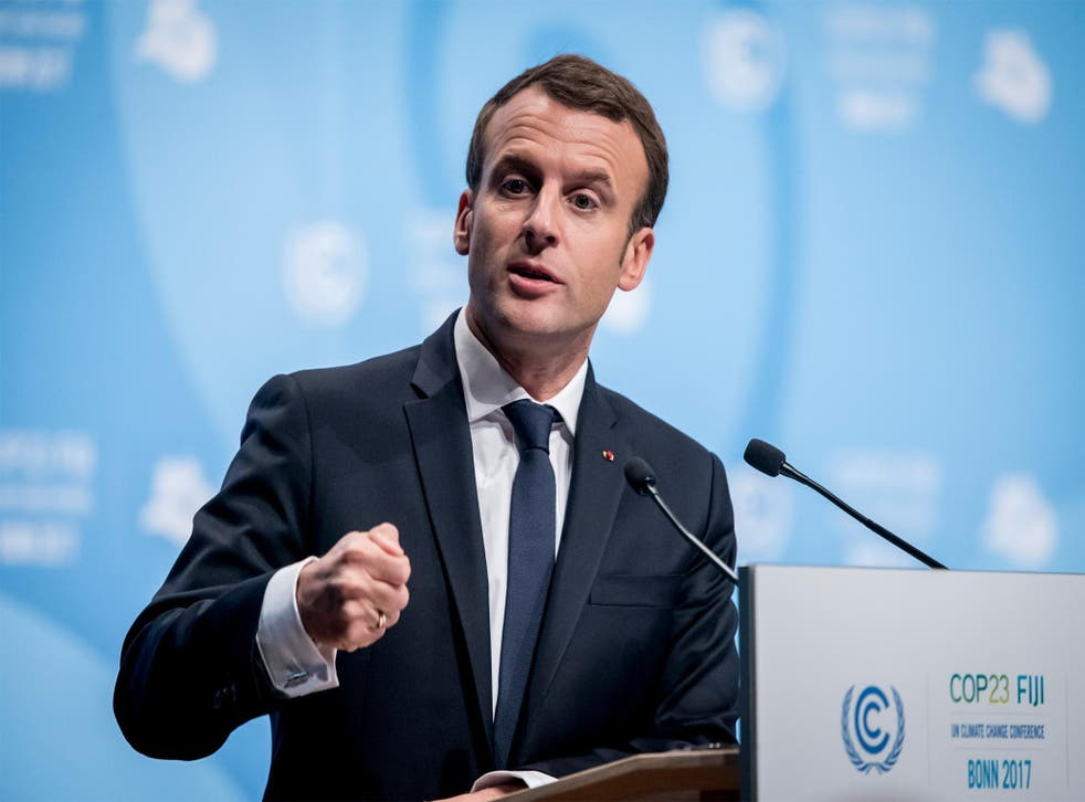 Macron has previously spoken out against Trump's stance towards global warming