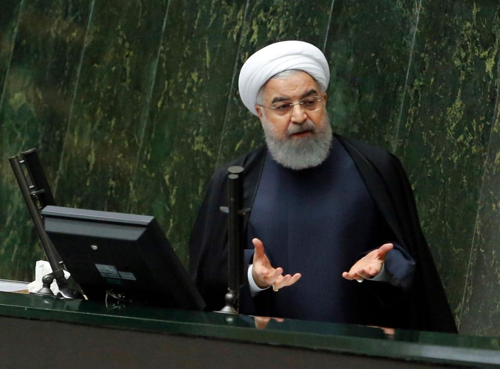 Videos on social media also show protestors shouting 'death' to President Hassan Rouhani