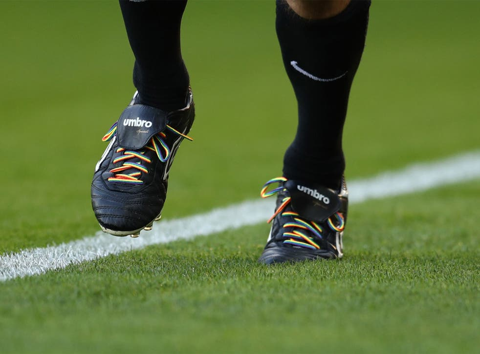 The rainbow laces campaign is addressing homophobia in football