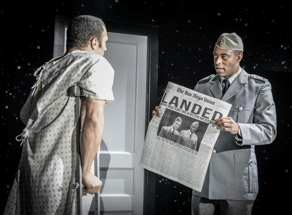 Cosmo Jarvis (left) and Oliver Alvin-Wilson in 'The Twilight Zone' at the Almeida Theatre