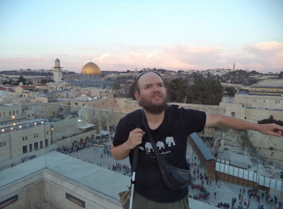 Tony at the Western Wall and Temple Mount in Jerusalem