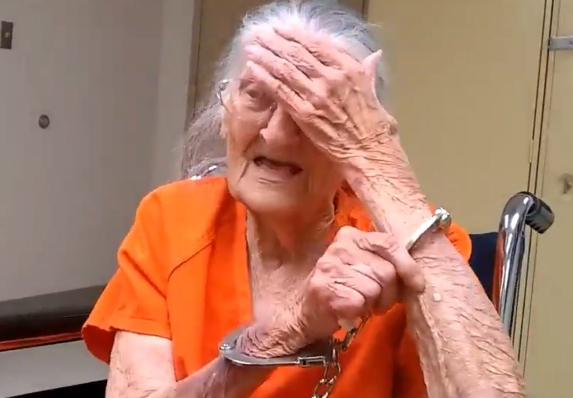 90 Year Old Woman Porn Minimalist 93-year-old woman handcuffed and jailed after refusing to leave