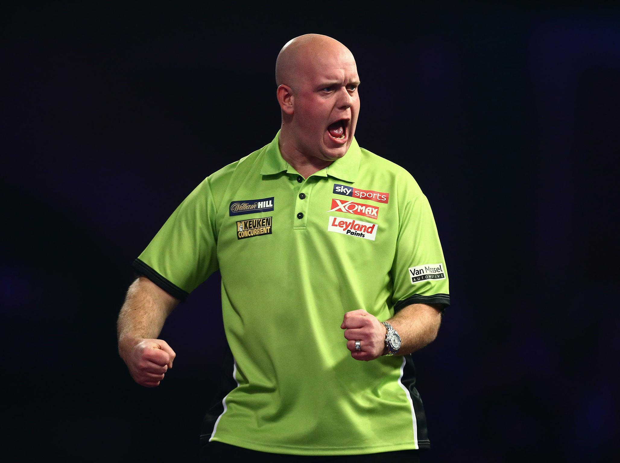 pdc world darts championship michael van gerwen starts title defence with comfortable win the independent