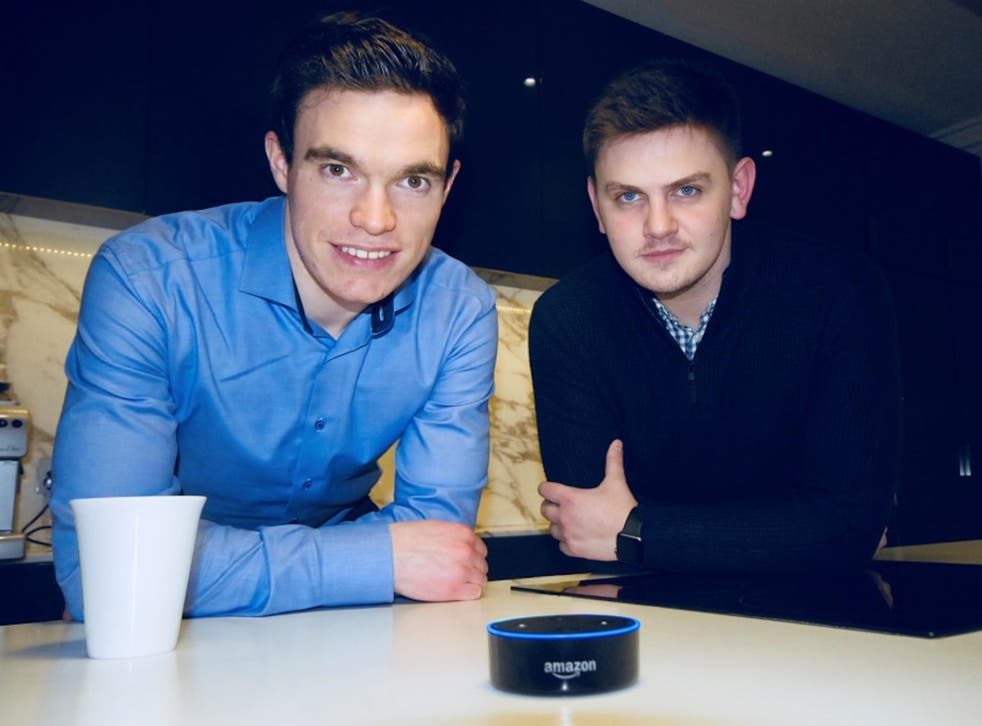 Gareth Hickey (left) and Shane Ennis came up with NOA to make newspaper content live beyond the page