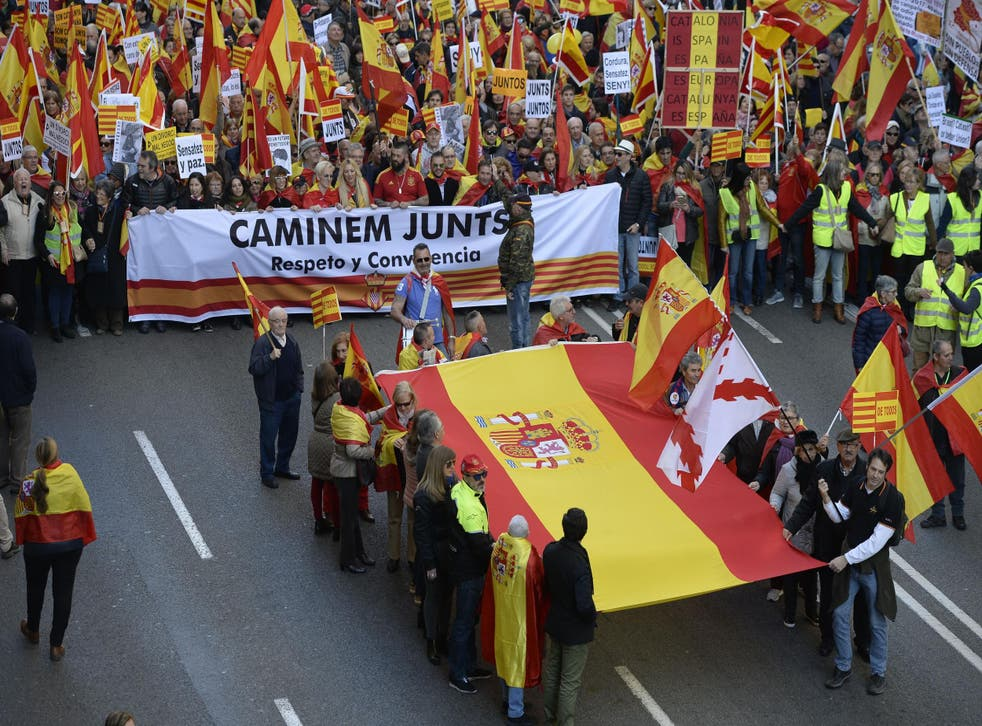Catalans claim their rights to the European institutions and ask that they guarantee fundamental freedoms and basic rights in Catalonia.