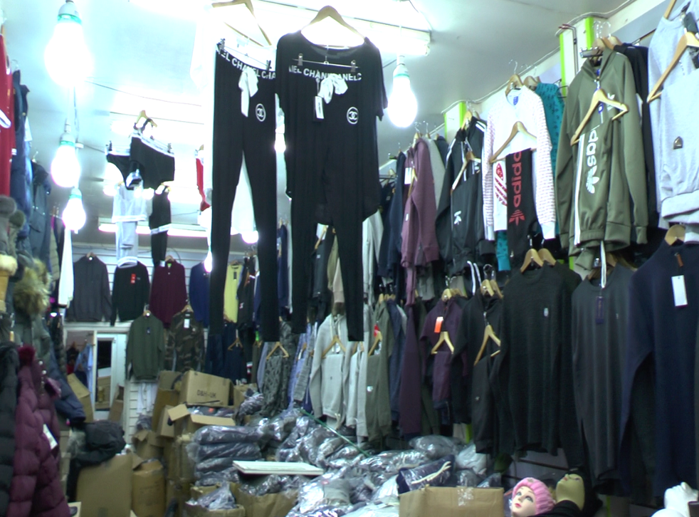 Inside premises raided by Police and Trading Standards in the Strangeways area of Manchester on December 12