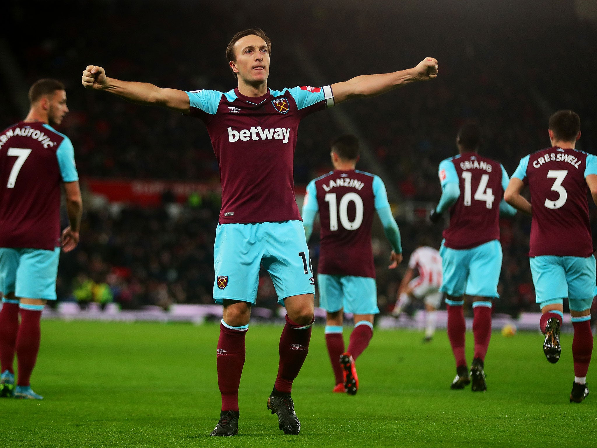 d21fc65a5 Marko Arnautovic returns to haunt Stoke as West Ham clinch victory ...