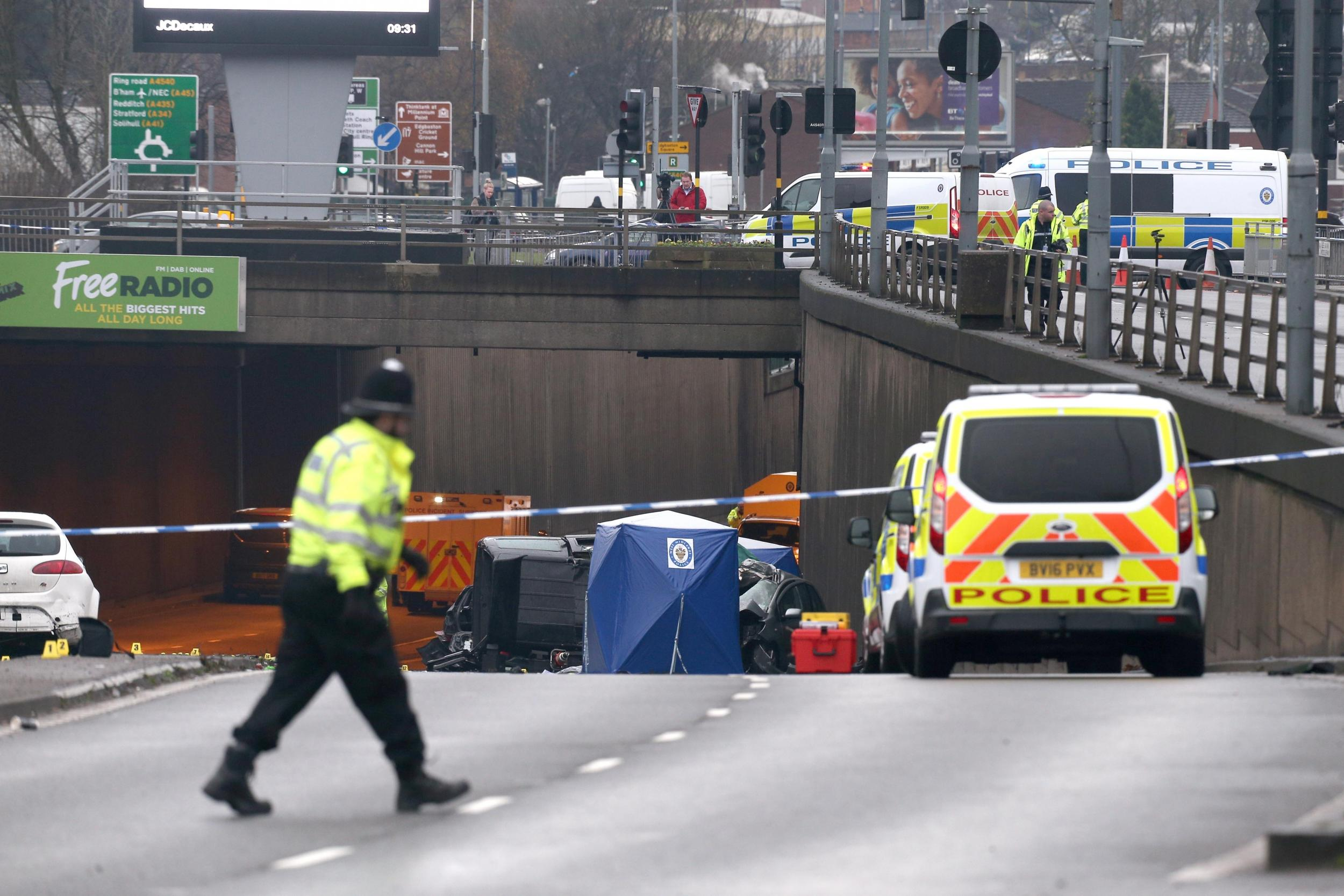 birmingham car crash: six dead and one critically injured in