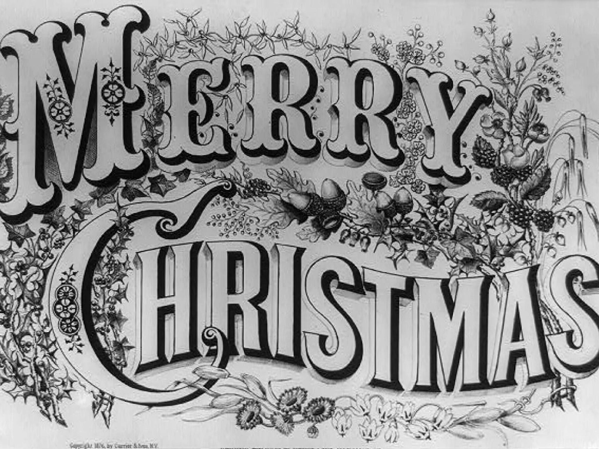 How the war on christmas dates back to colonial america the a currier and ives christmas greeting card published in 1876 library of congress m4hsunfo
