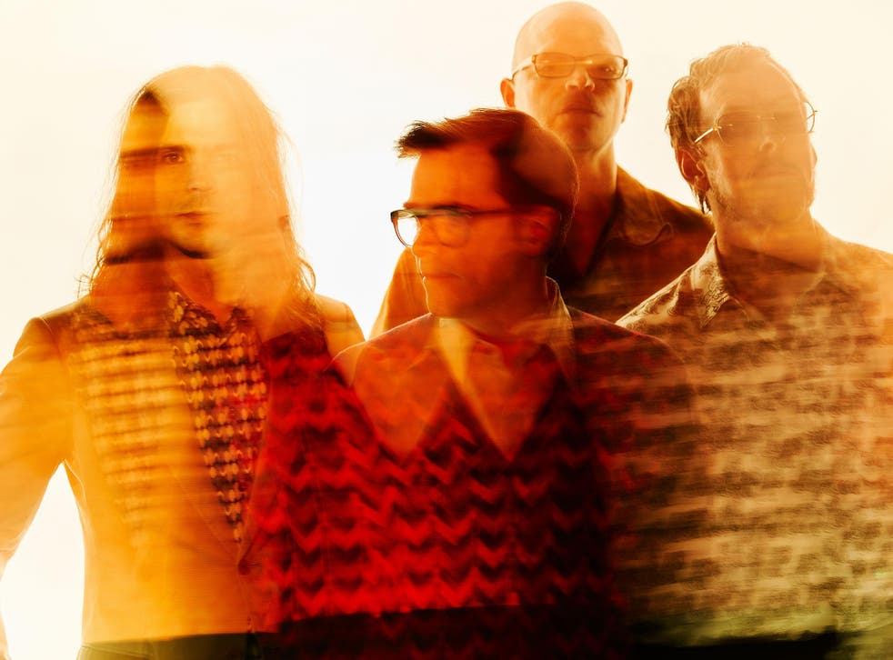 Weezer, from left to right, Brian Bell