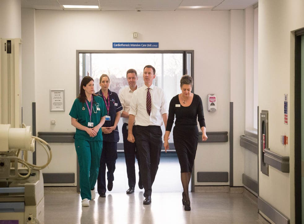 Jeremy Hunt seems to think the NHS is doing just fine, but doctors have a different view on the situation