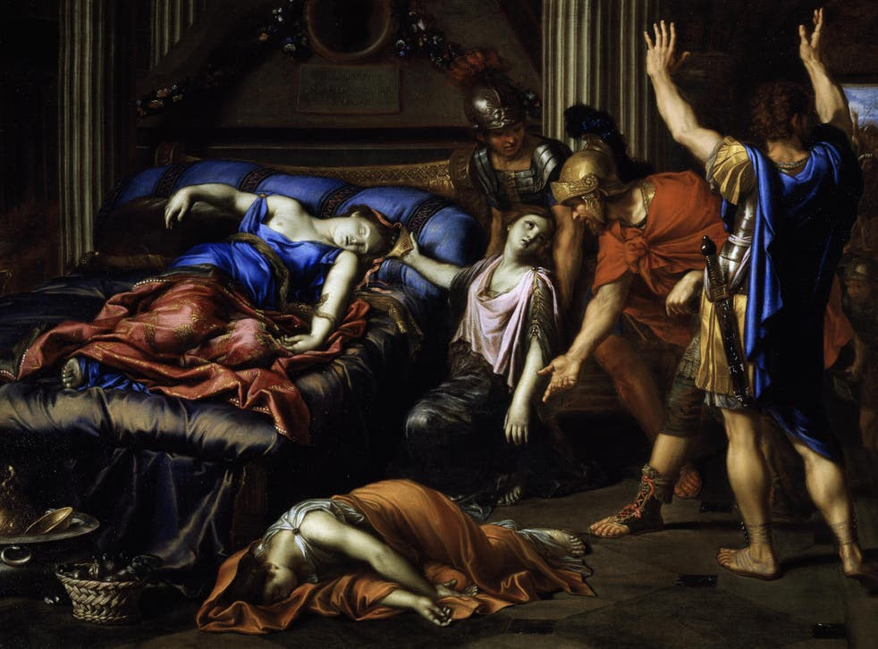 Age cannot wither her: Pierre Mignard's 1635 depiction of the death of Cleopatra, arguably Shakespeare's most transformative female character, whom he gifted with 'a grasp of her own fate and a new autonomy of spirit'