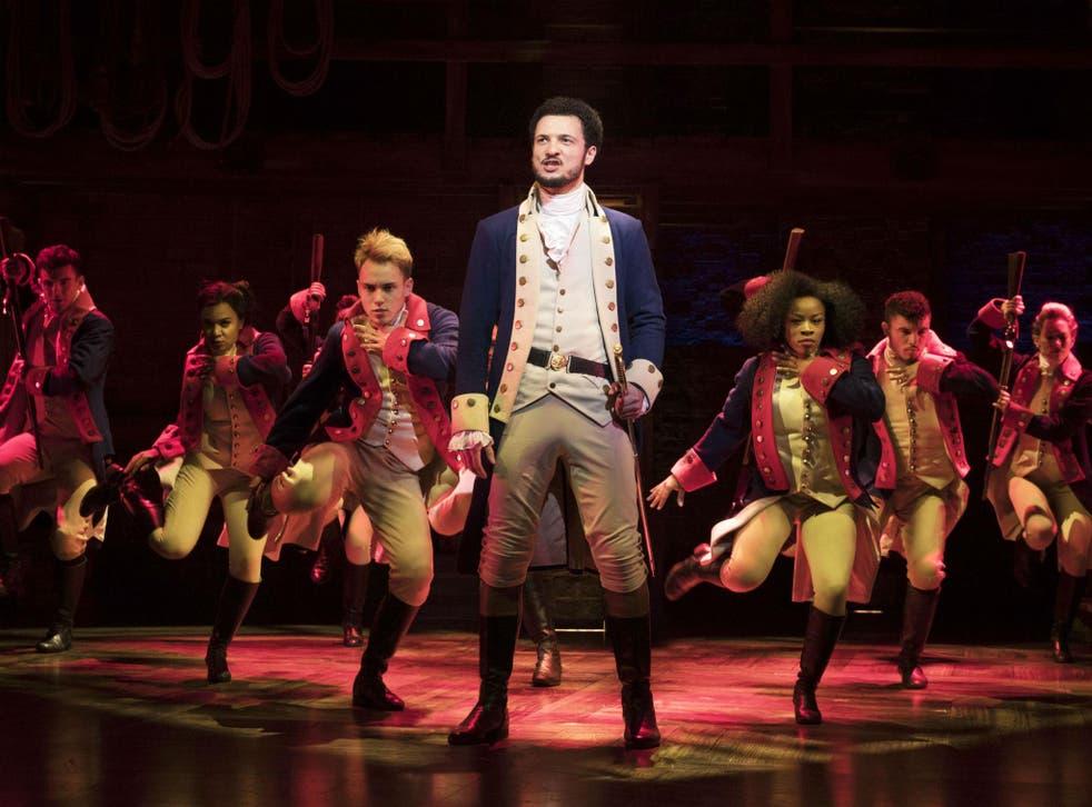 Unmissable: Jamael Westman as Alexander Hamilton with the West End cast of Hamilton