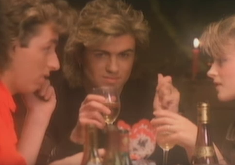 george michael in the music video for last christmas - Classic Christmas Songs List