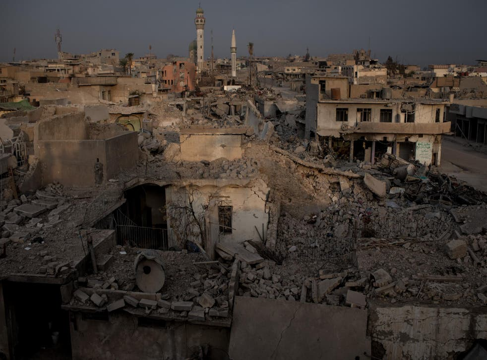 Destroyed buildings are seen in West Mosul on November 6, 2017. Five months after Mosul, Iraq's second-largest city was liberated from ISIL in a nine-month long battle, residents have returned to the destroyed city to rebuild their lives.