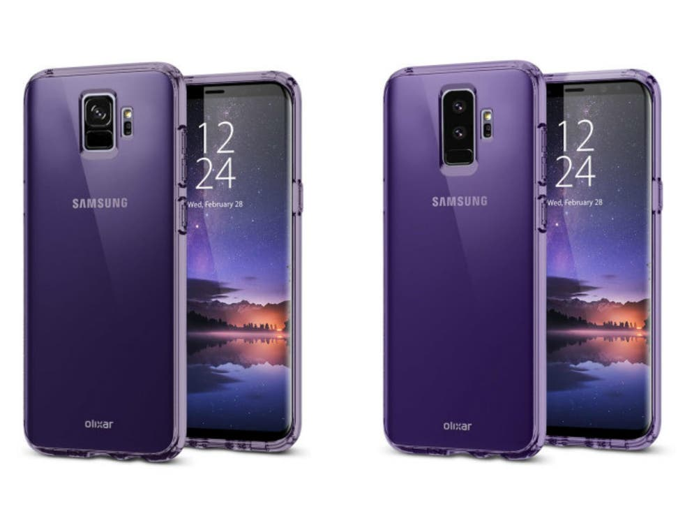 The images suggest the S9 (left) will feature a single rear camera and the S9+ (right) will have a pair of them