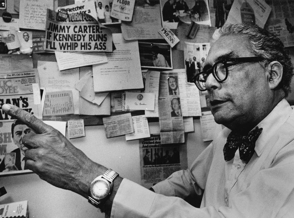 Booker, the Washington editor of African-American magazines Jet and Ebony, in 1982