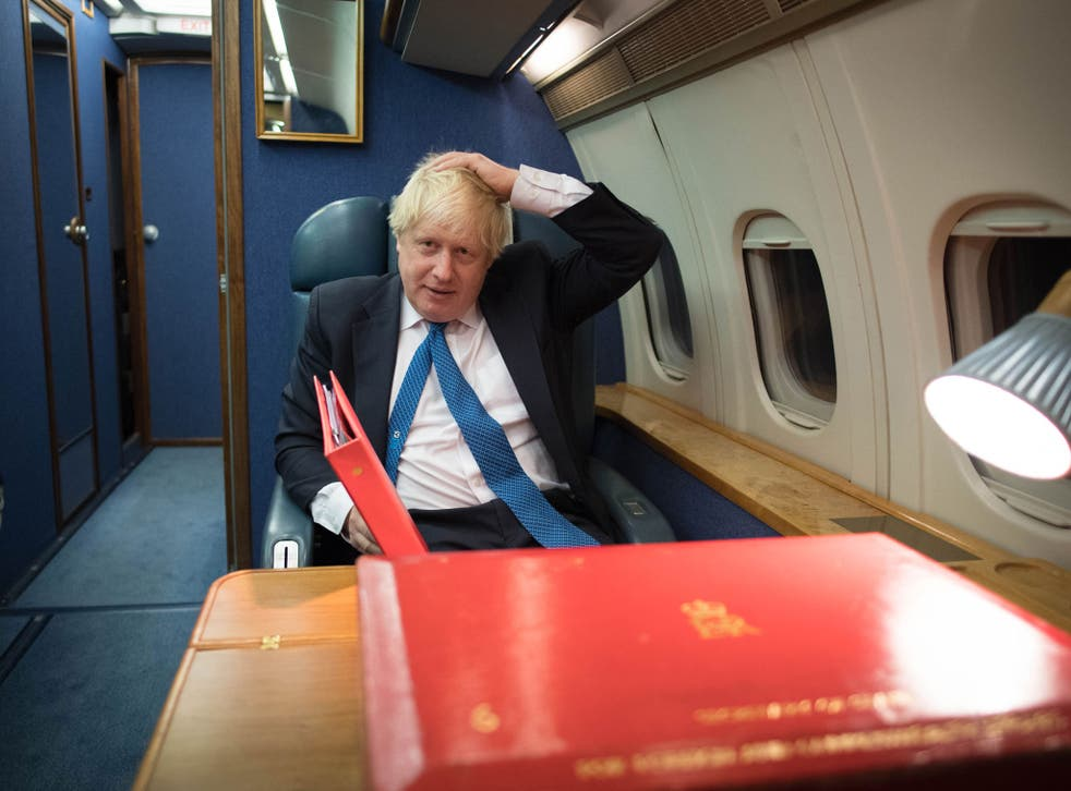 Boris Johnson flew to Moscow to meet his Russian counterpart, Sergei Lavrov
