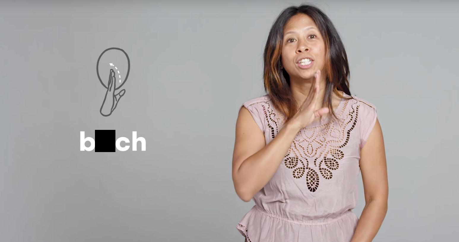 Uitzonderlijk Deaf people show how to swear in sign language and it's brilliant #CV55