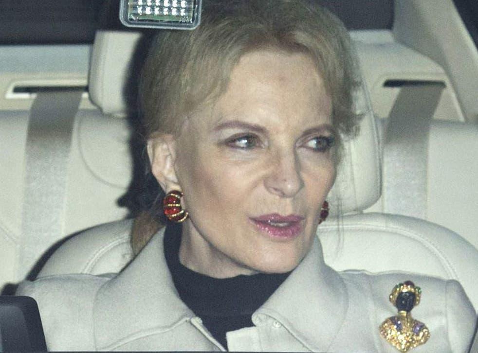 Princess Michael of Kent arrives at Buckingham Palace wearing a 'blackamoor' brooch