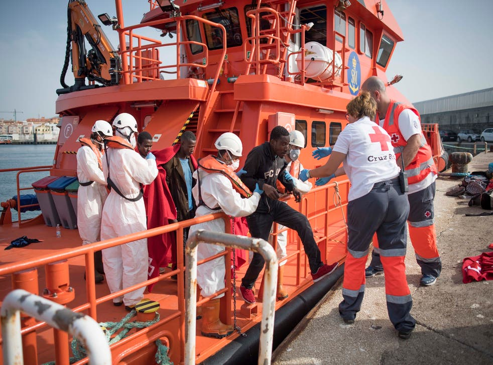 Charities such as the Red Cross have rescued over 15,000 people in the Strait of Gibraltar this year