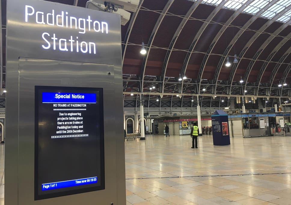 Trains on Christmas and Boxing Day: Paddington deserted as