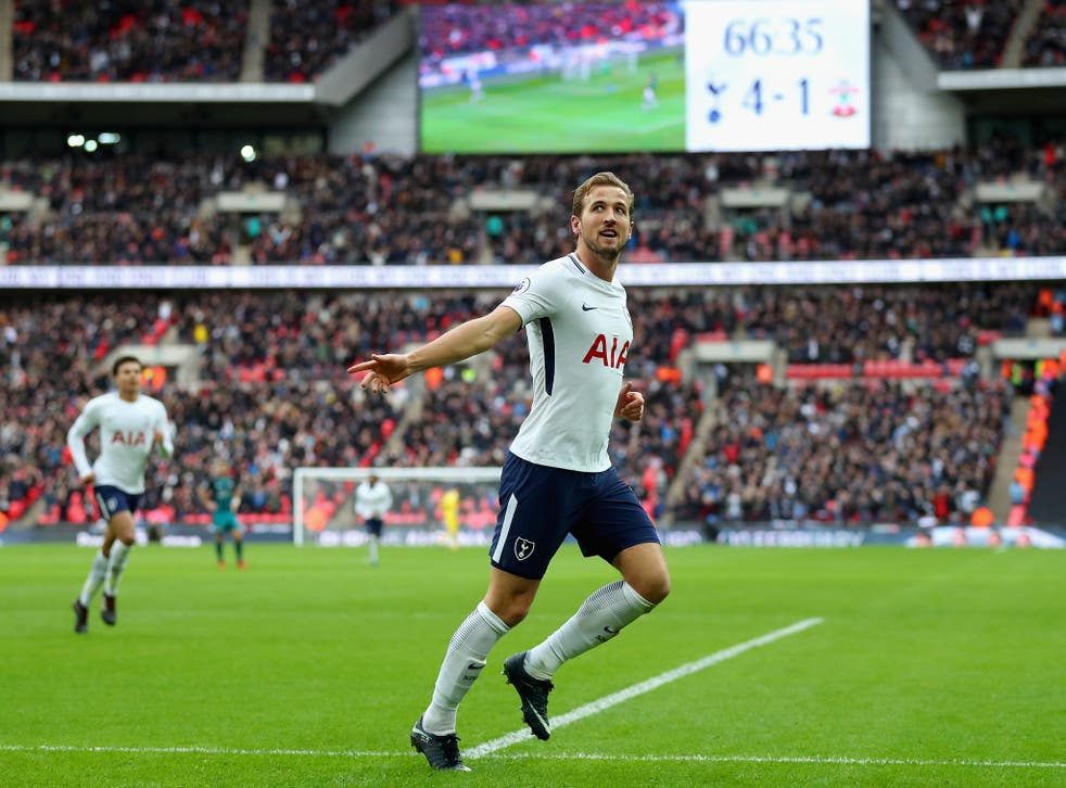 Harry Kane scored his eighth hat-trick of 2017 in the 5-2 thrashing of Southampton
