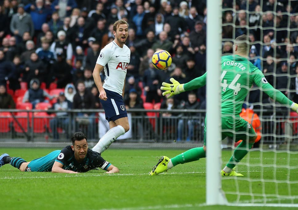 Image result for harry kane hattrick southampton 2017
