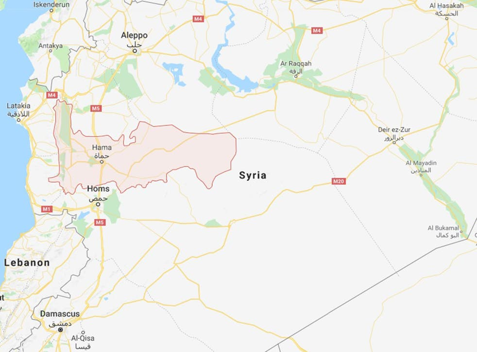 The military jet was shot down over the Hama province