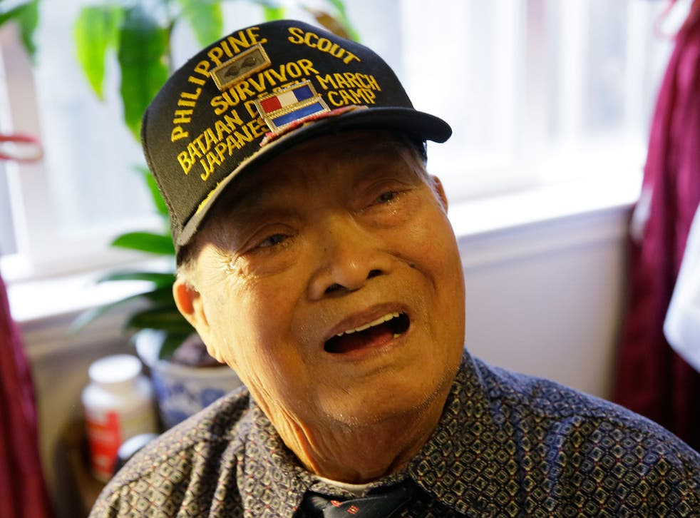 Bataan Death March survivor Ramon Regalado reminisces at his home in El Cerrito, California