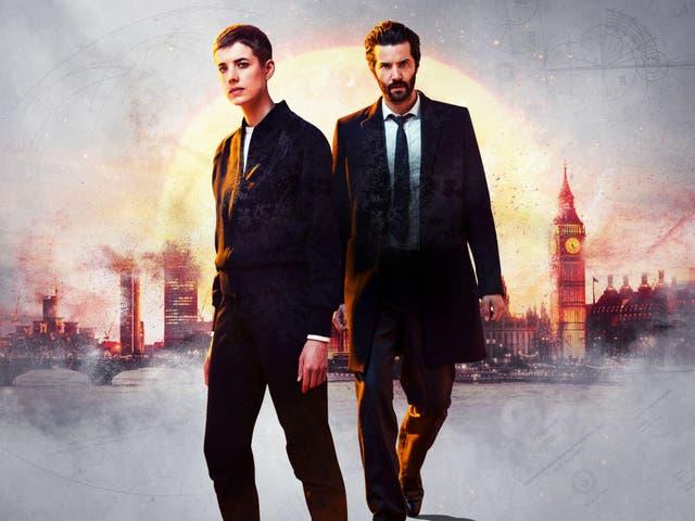 Agyness Deyn as Renko and Jim Sturgess as Hicks in the BBC drama 'Hard Sun'