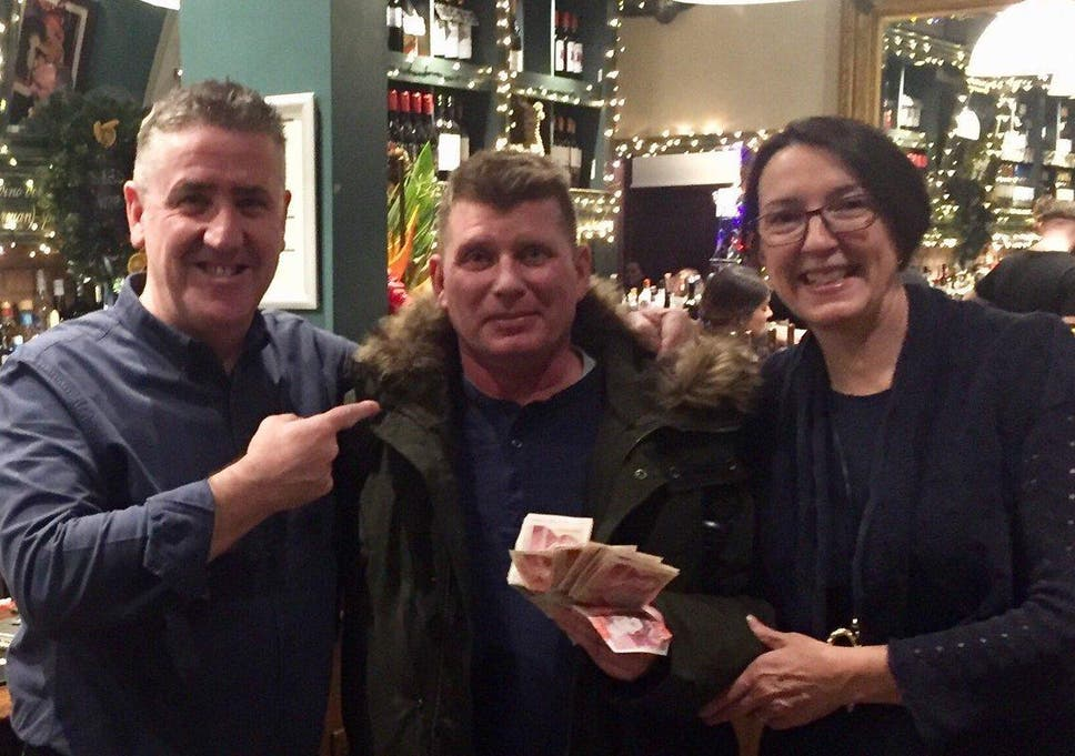 Reunited At Christmas.Man Who Left His Christmas Wages In A Pub Has Been Reunited