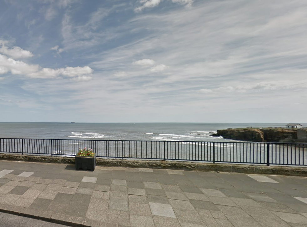 The man's body was found at Brown's Bay in Whitley Bay, Tyneside