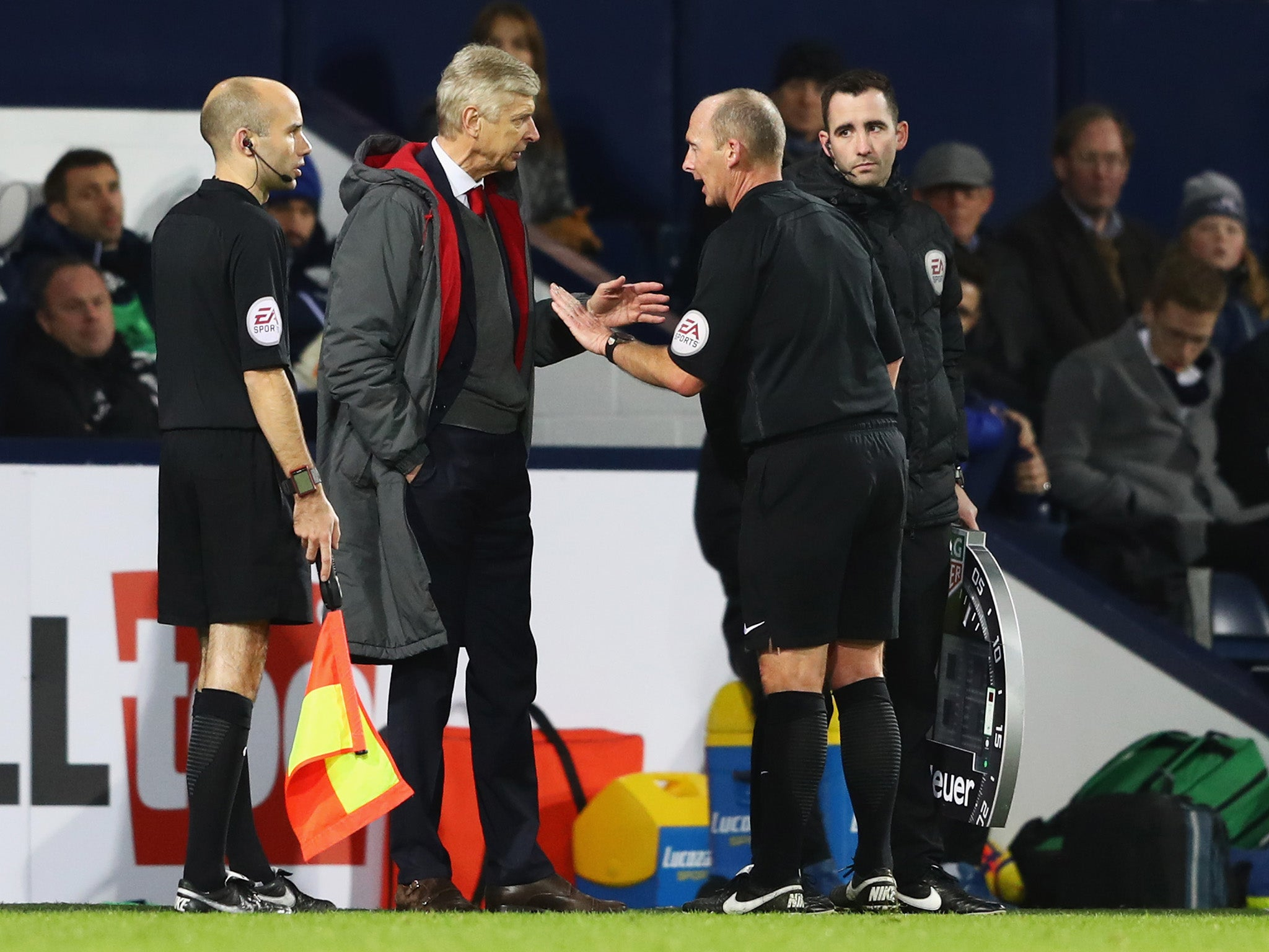 Arsene Wenger hits out at penalty decision after West Brom hold Arsenal to 1-1 draw
