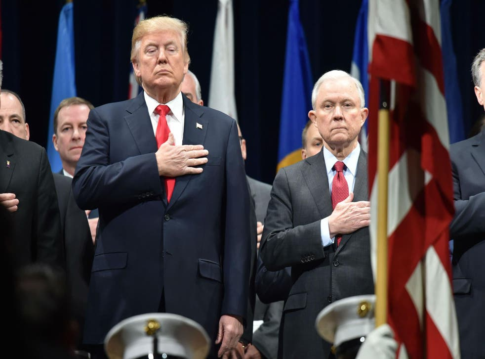 Jeff Sessions gave up his seat in the senate to become Mr Trump's Attorney General