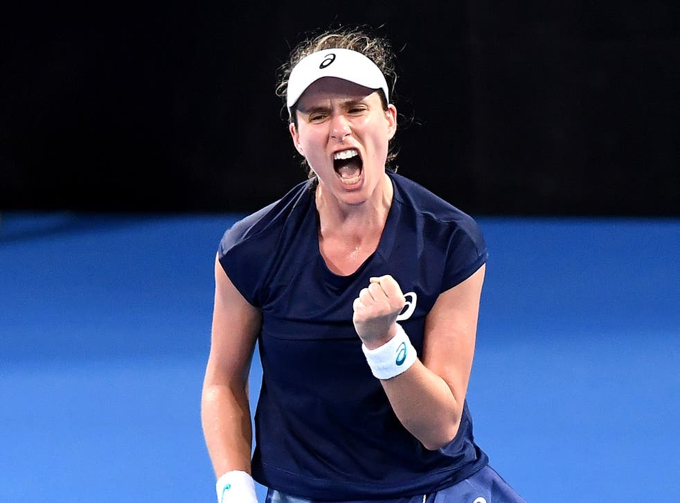 Once again Johanna Konta was required to dig deep in Brisbane