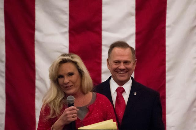 Kayla Moore was her husband's strongest supporter