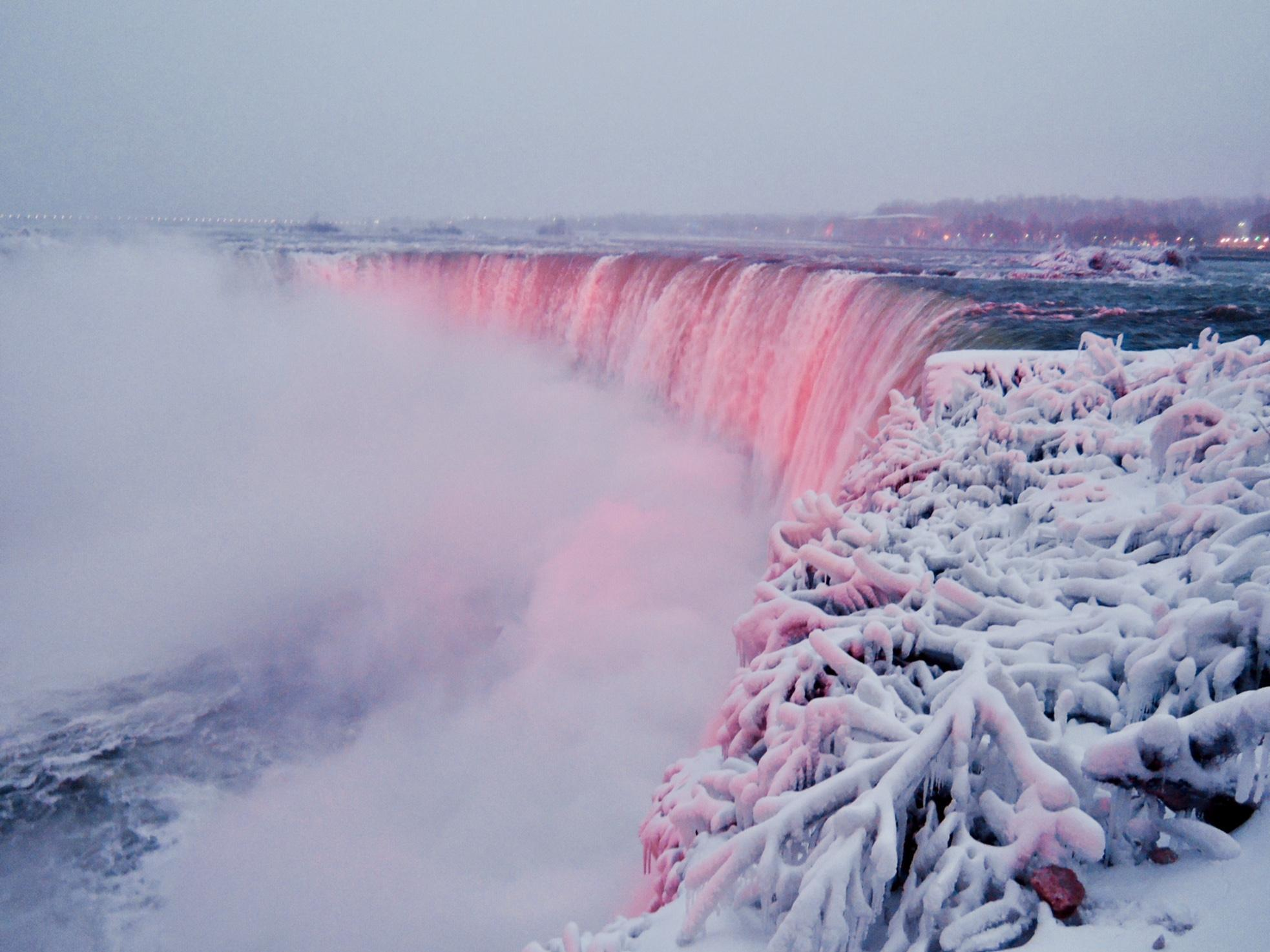 Image result for waterfall  nature in winter canada