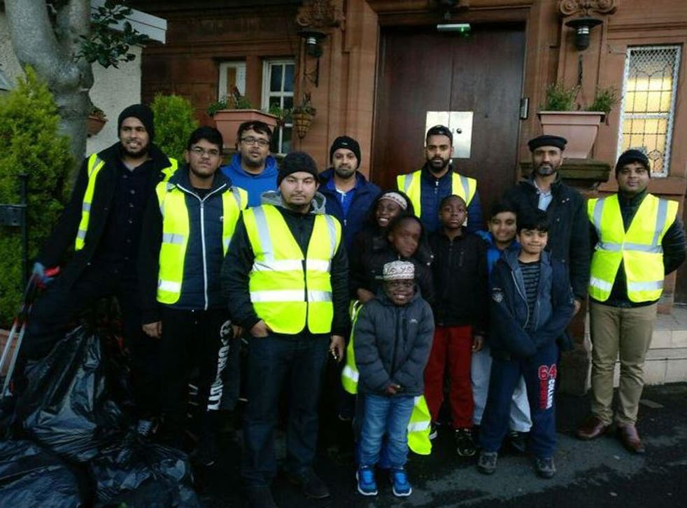 Volunteers clean-up Glasgow's streets after the New Year's celebrations