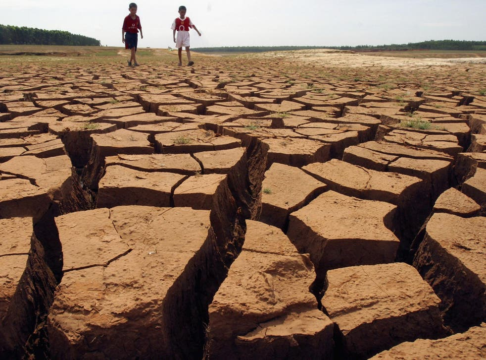 A new study has predicted that about 20-30 per cent of the world's land surface will become severely dry by the time the global mean temperature change reaches 2C