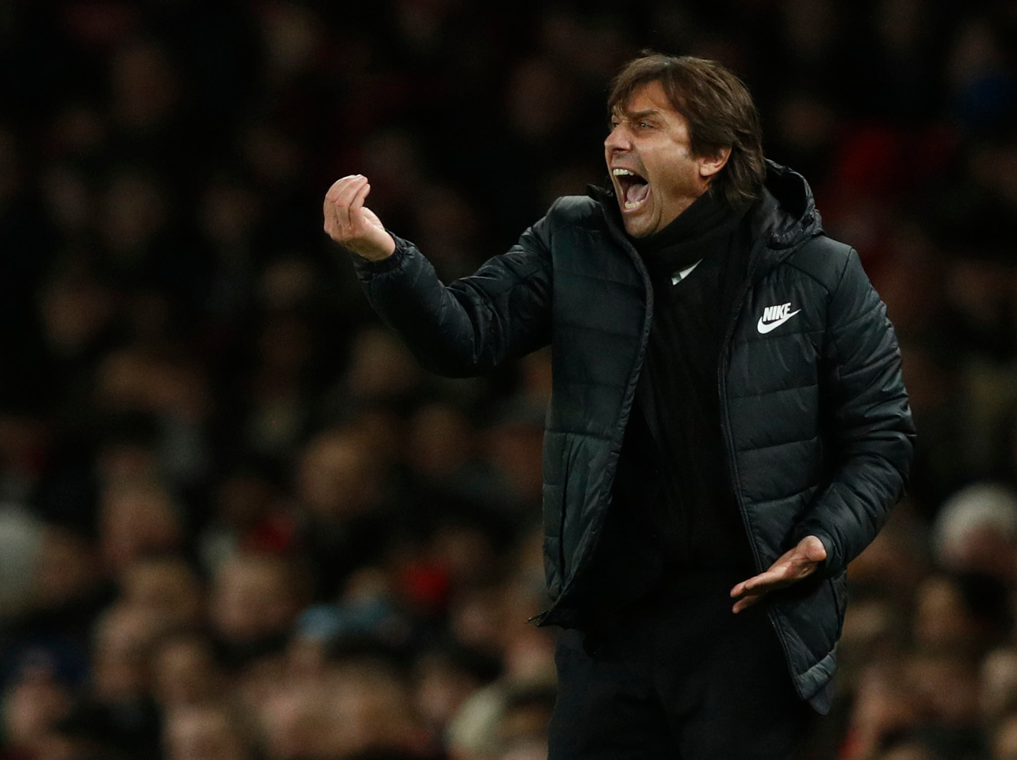 Antonio Conte says he is telling Alvaro Morata to 'keep calm' following difficult night against Arsenal