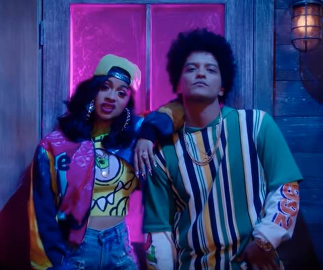 Cardi B and Bruno Mars in the 'Finesse' remix video