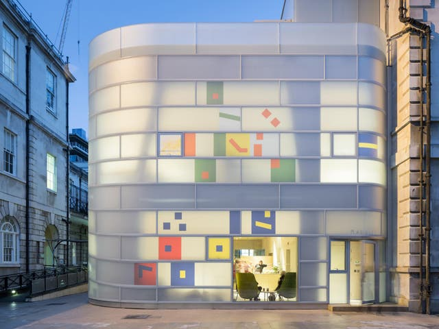 Designed by New York architect Steven Holl, the centre sits next to what's left of the remains of the 17th century hospital in north London
