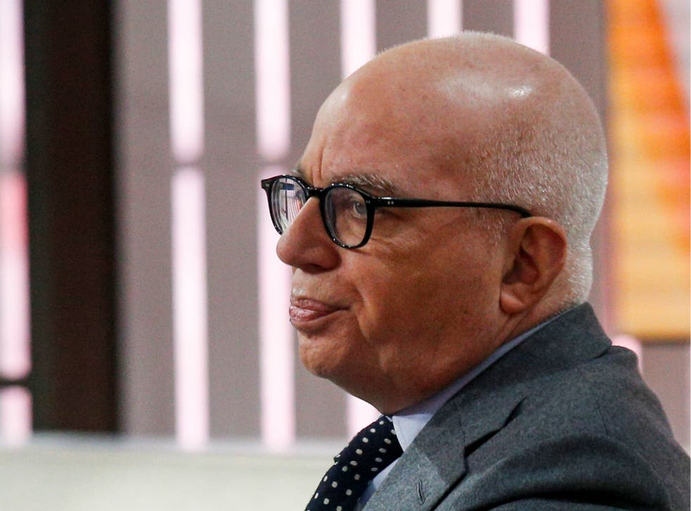 Michael Wolff is seen on the set of NBC's 'Today' show prior to an interview about his book