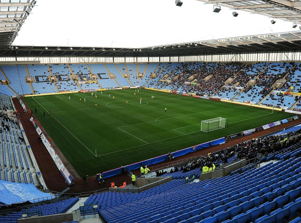 Coventry play at the Ricoh Arena in front of crowds of around 7,000 fans