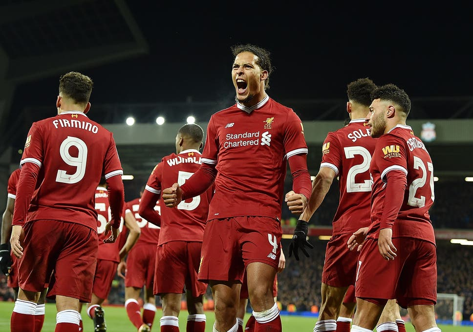 91aff812a Liverpool vs Everton  FA Cup third round – Virgil van Dijk heads ...